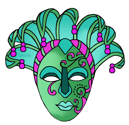 Mardi Gras Mask (green)